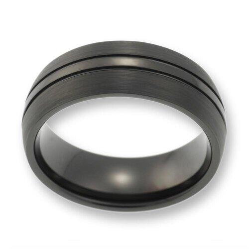 herren ring aus wolfram tungsten ohne stein schwarz. Black Bedroom Furniture Sets. Home Design Ideas
