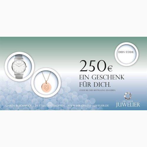Juwelier online  250,00 Euro Gutschein von ihr online juwelier für Uhren, Schmuc