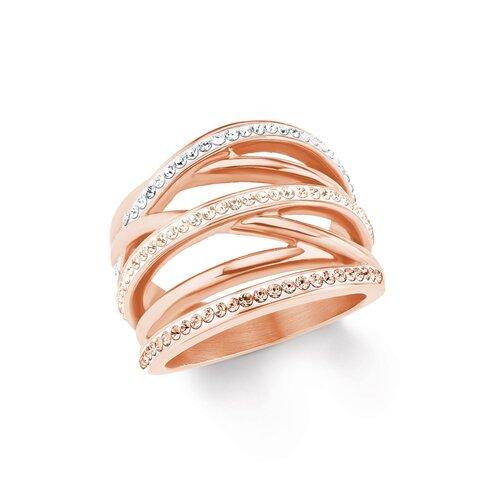 s oliver jewels damen ring aus edelstahl rose mit zirkonia mode. Black Bedroom Furniture Sets. Home Design Ideas