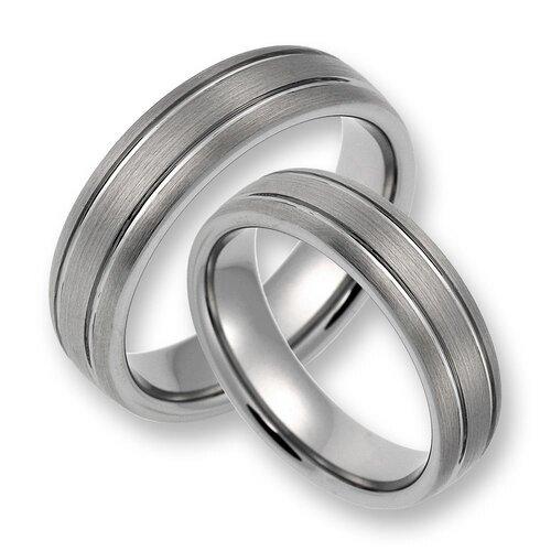 Eheringe weißgold matt ohne stein  Trauringe Eheringe Freundschaftsringe aus Wolfram/silber ohne Stein (