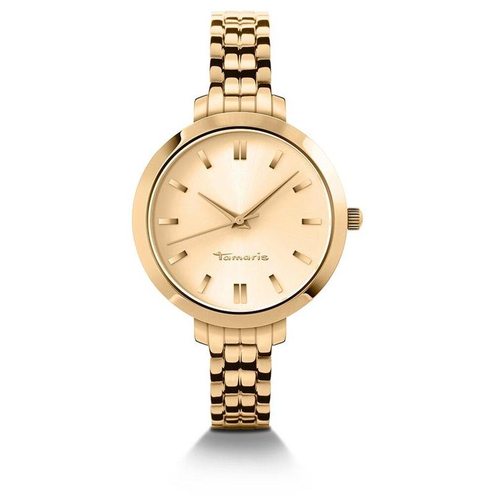 tamaris damen uhr armbanduhr aus edelstahl gold b04101070. Black Bedroom Furniture Sets. Home Design Ideas